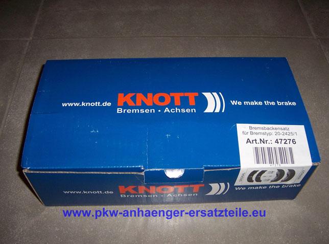 Bremsbelag Bremsbackensatz für Knott BPW 2005-5 Nieper 200x50mm 20-2425//1