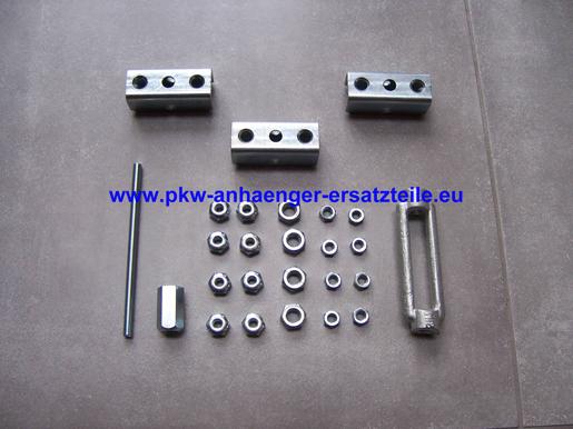 Bremsgestänge für Anhänger 1200-2000mm M8 Edelstahl Nirosta